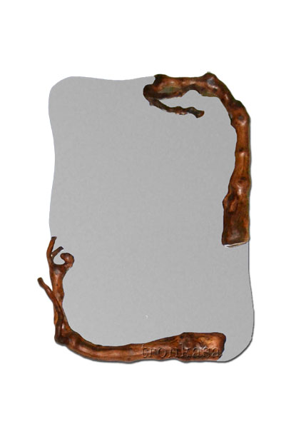 Espejo de madera r stico e 01 tronkasa for Espejos de pie en madera