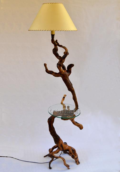 Lampara mesa tronkasa - Lamparas estilo rustico ...