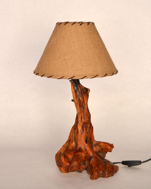 Lampara de mesa rustica ls 15 104 tronkasa - Lamparas de pie artesanales ...