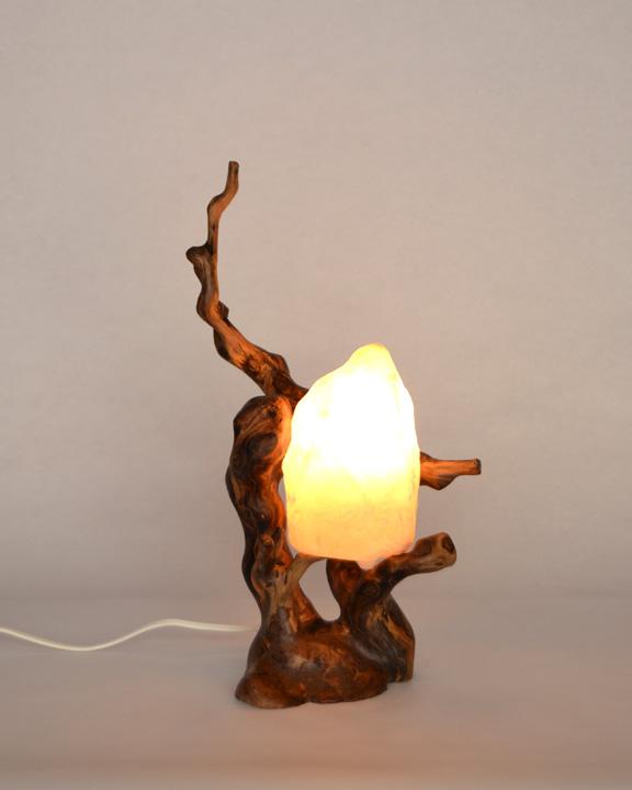 Lampara de mesa rustica ls 15 108 tronkasa - Como hacer lamparas de techo artesanales ...