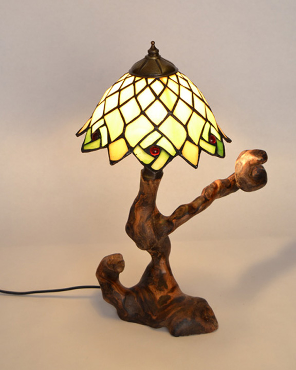 Lampara de mesa rustica ls 15 109 tronkasa for Lamparas de mesa de madera