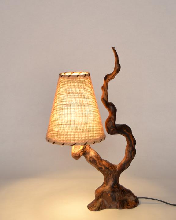 Lampara de mesa rustica ls 15 111 tronkasa - Lampara de pie madera ...