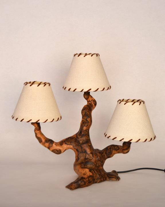 L mpara de mesa r stica ls 303 12 tronkasa - Lamparas de madera rusticas ...