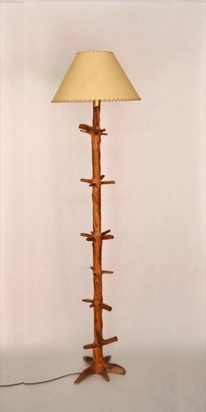Lampara de pie rustica lp 101 tronkasa - Lamparas de pie rusticas de madera ...